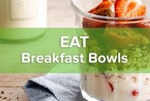Breakfast Bowls / Are you a spooner? You don't have to stay in bed anymore. Thanks to our breakfast bowl ideas you can spoon all you want from cereal, to granola to fruit to well… everything that fits a spoon.