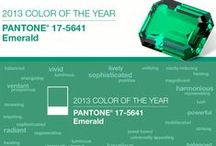 Pantone:  colour of 2013 / Emerald green is this year colour lovers official colour.