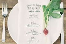 Menus / Drooling over these printed menu ideas