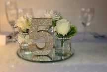 Wedding table numbers / Handmade, chunky wooden numbers, finished in any colour glitter, vintage inspired finish or plain painted.