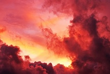 Fires in the sky / sun, moon, nothern lights, thunderstorm, meteor, firy sky, aurora
