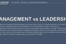 Leadership / Despre leadership in zilele noastre.