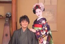 Maiko Couple / カップルでの撮影も大歓迎です。男性用のお着物、ご用意しております。