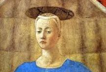 Piero della Francesca (c 1415-12/10/1492) / Italian, early Renaissance painter, also known as a mathematician and  geometer