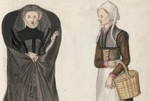 Lucas de Heere (Luc Dheere) / pictures of people in their clothes about 16th century