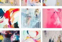 abstracte schilderijen / Abstracte schilderijen