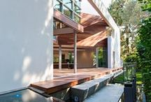 VPA+D Exteriors / Bathrooms + powders rooms designed by Van Parys Architecture + Design located in Southern California.