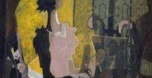 George_Braque / Het hele oeuvre van Georges Braque (1882-1963): schilderijen, tekeningen, beelden, collages, maar ook juwelen. Stijl: kubisme.