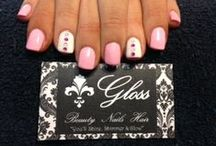 Nails at the Gloss Beauty Salon / Manicures done on the clients at the Gloss Beauty Salon! x
