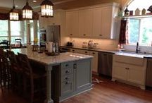 Country Kitchen in Milton, GA / A wall was removed in this kitchen to allow for a spacious, open floor plan.