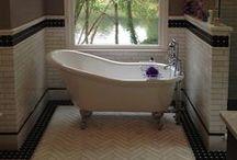 Elegant Black and White Master Bath in Roswell, GA / Elegant Black and White Master Bath in Roswell, GA
