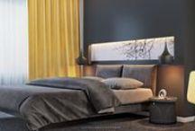 Bedroom / bedroom, modern, luxury, visualization, rendering