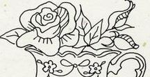 Floral Stitcheries / Flowers leaves all the pretty designs to use for fill ins on your stitchery blocks.