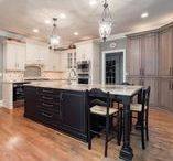 Tri-Color Kitchen with Country Breakfast Nook in Johns Creek, GA