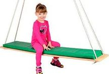 Swings and Swing Frames / Designed for toddlers through adults, the swings at eSpecial Needs improve vestibular function, develop spatial perception and improve trunk control. Swings are great for vestibular therapy and sensory integration for children and adults with special needs. Our indoor and outdoor swing frames offer ceiling mounted or free-standing designs to support your swing. / by eSpecial Needs
