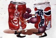 Coca Cola vs Pepsi / En la eterna guerra entre Coca Cola y Pepsi, observamos que esta última ha realizado numerosas campañas contra Coca Cola, mientras esta mantiene la ley del silencio. Lo mismo que sucede con Burger King: el número 2 ataca al líder para intentar arrebatarle el puesto.