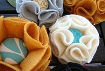Fabric Flowers / by CraftsCrazy