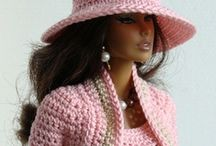 Crocheted & Knit Doll Clothes / Knit and crocheted doll clothes and accessories such as jewelry, belts, doll houses, play sets, furniture, etc. / by CraftsCrazy