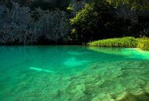 lakes and waterfalls