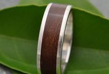 Wood Wedding Rings by Naturaleza Organic Jewelry / ecofriendly wood and recycled sterling silver and gold rings, wedding bands and custom designs