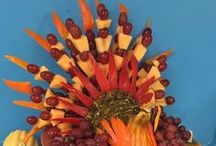 THANKSGIVING Food Fun Rocks / Turkeys from fruits, vegetables and more ... YUMMY!!
