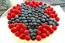 PATRIOTIC Food Fun / Red, white and blue ... and tasty and healthy too!