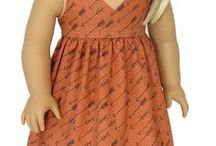 "American Girl Doll Dresses / Trendy dresses for 18"" Dolls like American Girl Doll"