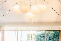 String lights & Paper light lanterns - Gargonza / String lights & Paper light lanterns - Gargonza