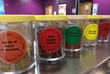 FLAVOR STATIONS Rock in School Meals / We love the trend of adding herbs and spices to salad bars and school cafeterias.