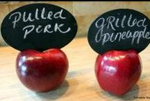 School CAFETERIAS That Rock / Great 'looks' for your cafeteria and salad bars lines - signage, murals and more