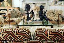 Lovely Lounges / Lovely lounge interiors - African, Moroccan, Mid Century Modern, Modernist,  70s Glam & Boho chic.