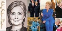 "Hillary Clinton's World Travel Collection / Unites States Secretary of State Hillary Clinton's World Travel Collection, colorful women's pant suits worn throughout the world know as ""the famous pant suit"""
