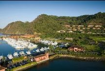 HRG Los Sueños Resort / A 1,100-acre master planned destination resort community. Los Sueños encompasses a private 600-acre rainforest reserve; a 201-room five star Marriott hotel; over 500 luxury residences, including single-family homes, lots, condominiums and lavish villas; a full service 200-slip international marina; an exclusive Beach Club for residents; an 18-hole championship golf course, and much more.