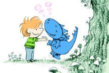 Lumpi Lumpi  / Una colección de novelas ilustradas que narran las aventuras de un niño y su amigo imaginario, el dragón Lumpi Lumpi, una criatura simpática, traviesa, cariñosa aunque...un poco quisquillosa, escamosa y azul. ¿Quién no querría tener un dragón así como amigo imaginario?