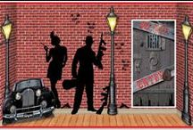 Gangster decorations and ideas / Our 20's Gangster Decorations bring back the days of mobsters, flappers, and jazz! Let us help you make your very own speakeasy!  / by Party Cheap