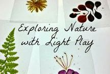 Nature Based Activities for Kids / Nature play for toddlers and preschoolers.  Fun ways to create and play with natural materials for kids
