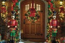 Home For Christmas / ~ Christmasy Front Entrances Ideas To Greet You Family and Friends For The Holidays. ~ / by Yvette Palmer | Agave Premier Properties