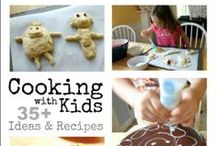 Cooking with Kids & Meal Ideas / Recipes for kids and tips for cooking with kids! Plus meal ideas for young children and school lunches