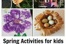 Spring Activities for Kids / Spring crafts, spring art activities, and spring learning activities for preschoolers & toddlers.