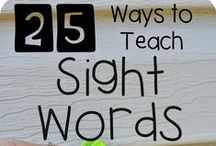 Literacy & Sight Words / Literacy games and activities to prepare children to learn to read.  Simple sight word and letter sound activities for preschoolers.