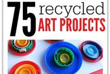 Crafts With Recycled Materials / Crafts and Art with Recycled Materials.  Recycling and green living for kids