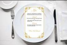 Wedding Menu Cards / Easy editable & printable wedding menu program templates. Use our wedding menu program templates to make your own DIY invitation at home.