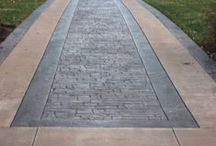 Stamped Borders / Precision Corporation does amazing stamped concrete work.