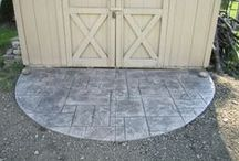 Grey Stamped Concrete Collection / Precision Corporation completes amazing stamped concrete designs, including, but not limited to: patios, staircases, and walkways.