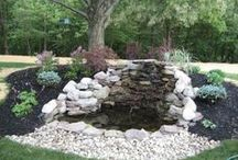 Water Features / Precision Corporation creates alluring water features to accent any outside space.