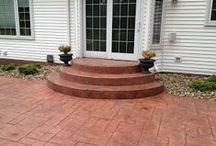 Concrete Steps / These are some of the stairs we have designed and installed in Northwest Ohio.