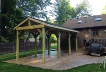 Decks, Pergolas, Bridges and Pavilions / Precision Corporation does a variety of carpentry work and will incorporate a lovely wooden accent to your next outdoor project.