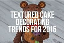 Textured Cake Decorating Trend for 2015 / The textured cake decorating trend is going to be big in 2015.