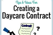 Running a Home Daycare / Tips for starting a home daycare and advice for successfully running a family child care program.