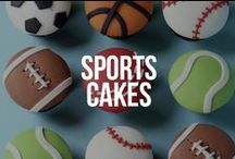 Sports Cakes / Sport themed cakes, cupcakes and cookies - football, golf, rugby, tennis and more.